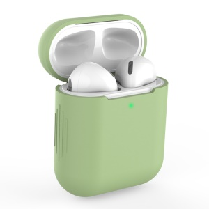 Silicone AirPods Protective Box for Apple AirPods with Charging Case (2019)/with Wireless Charging Case (2019)/with Charging Case (2016) - Light Green