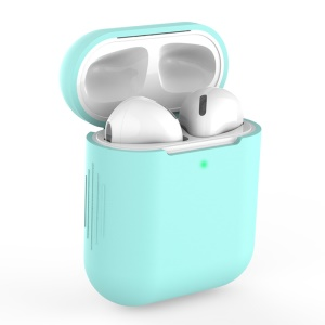 Silicone AirPods Protective Box for Apple AirPods with Charging Case (2019)/with Wireless Charging Case (2019)/with Charging Case (2016) - Cyan