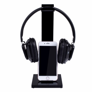 Multifunction Headset Headphone Stand Holder Desk Hanger with Cable Organizer and Phone Tablet Stand