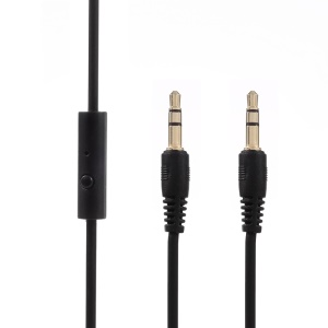 3.5mm Male to Male Auxiliary Audio Cables with Mic for iPhone, iPad, Samsung, HTC etc