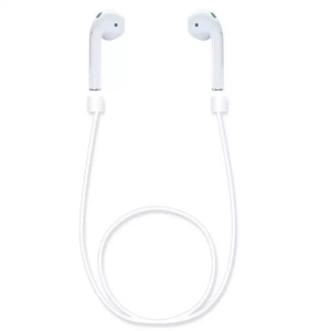 Luminous Earbuds Correa Anti-perdió la cuerda de alambre para iPhone 7/7 Plus Airpods - Blanco