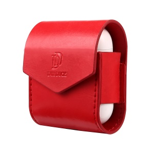 PU Leather Protective Case with Magnetic Closure for Apple Airpods Charging Case - Red