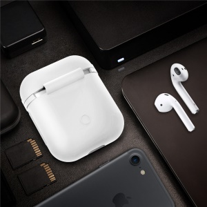 Drop-proof Silicone Protective Case for Apple AirPods Charging Case - White