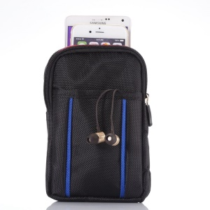 Sports Waist Bag Pouch with Buckle for iPhone 6 Plus/Samsung S6/Note 4 etc, Size: 17.5 x 11 x 2cm - Black / Blue