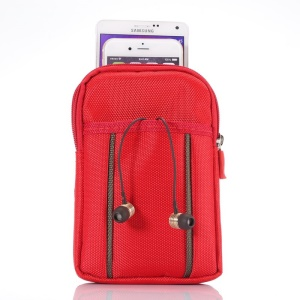 Sports Waist Bag Pouch with Buckle for iPhone 6 Plus/Samsung S6/Note 4 etc, Size: 17.5 x 11 x 2cm - Red