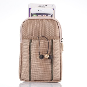 Sports Waist Bag Pouch with Buckle for iPhone 6 Plus/Samsung S6/Note 4 etc, Size: 17.5 x 11 x 2cm - Khaki