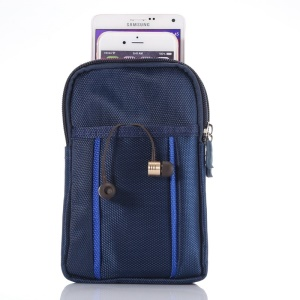 Mountaineering Waist Bag for iPhone 6 Plus/Samsung S6/Note 4 etc, Size: 17.5 x 11 x 2cm - Blue