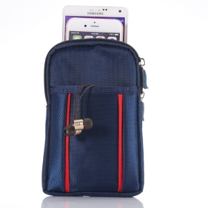 Mountaineering Waist Bag for iPhone 6 Plus/Samsung S6/Note 4 etc, Size: 17.5 x 11 x 2cm - Blue / Red