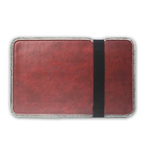 J.M.SHOW Crazy Horse PU Leather Wool Felt Sleeve Case for iPad Air 2 / Galaxy Tab S2 9.7, Size: 292 x 198mm - Red
