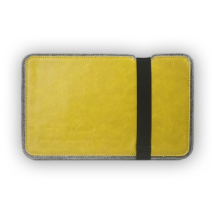 J.M.SHOW Crazy Horse PU Leather Wool Felt Sleeve Case for iPad Air 2 / Galaxy Tab S2 9.7, Size: 292 x 198mm - Yellow