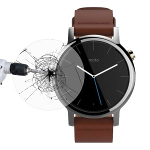 LINK DREAM for Motorola Moto 360 2nd Gen 42mm Tempered Glass Screen Protector 0.2mm