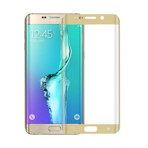 0.1mm PET Curved Full Coverage LCD Screen Film for Samsung Galaxy S6 edge Plus G928 - Gold