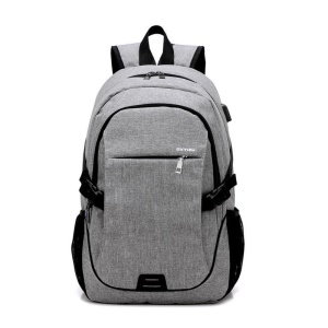 CTSMART YZ531 External Charging USB Function Backpack Anti-theft Bag - Grey