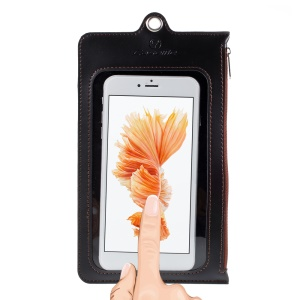 Borsa Pouch In Pelle CASEME Touch Screen Per Custodie In Pelle Caseme / iphone X / 8 Plus Ecc., Dimensioni: 17,5 X 11 Cm