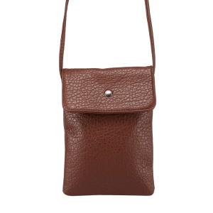 Litchi Skin PU Leather Practical Pouch Bag for iPhone 6 Plus Galaxy S6 Edge, Size: 12 x 18cm - Coffee