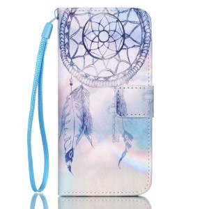 Leather Wallet Stand Phone Shell for iPhone 6 6s 4.7 inch - Dream Catcher