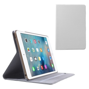 DOORMOON Genuine Leather Smart Stand Cover for iPad mini 4 - White