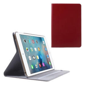 DOORMOON Genuine Leather Case Cover Flip pour iPad intelligente mini-4 - Rouge