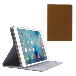 DOORMOON for iPad mini 4 Genuine Leather Smart Tablet Cover - Brown