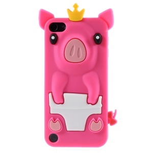 Crown Pig Silicone Phone Case for iPod Touch 5 - Rose