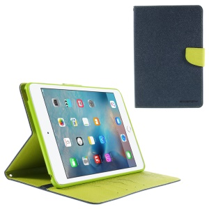 MERCURY GOOSPERY Leather Wallet Shell for iPad Mini 4 with Stand - Blue