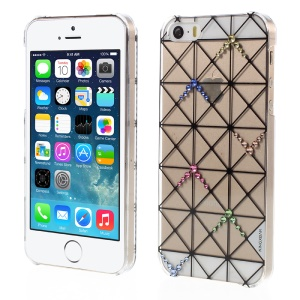 KINGXBAR Swarovski Diamond Triangles Cubierta Dura Para Iphone SE 5s 5 - Transparente
