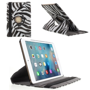 360 Degree Rotary Leather Stand Case for iPad Mini 4 - Zebra Pattern