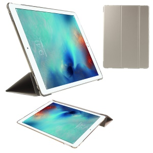Tri-fold Stand Smart Leather Flip Cover for iPad Pro 12.9 inch - Champagne