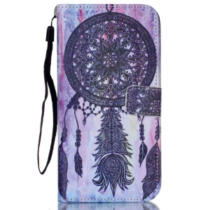 Faux Leather Stand Wallet Case for iPhone 6s 6 - Dream Catcher