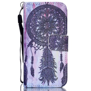 For iPhone 5c Stand Leather Phone Cover - Dream Catcher