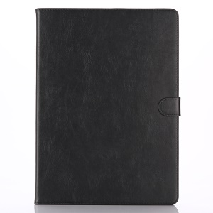 Crazy Horse Retro Leather Smart Case Wallet for iPad Pro 12.9 - Black