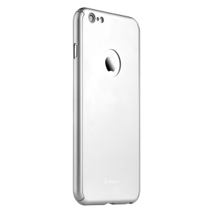 IPAKY Full Protection Case for iPhone 6s Plus / 6 Plus Hard Shell with Apple Logo Cutout - Silver