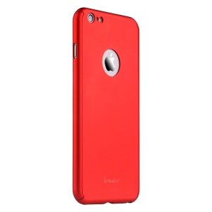 IPAKY Full Protection Case Hard Back Shell with Apple Logo Cutout for iPhone 6s Plus / 6 Plus - Red