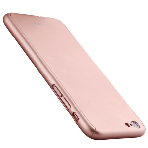 IPAKY for iPhone 6s Full Protection Case Hard PC Shell - Rose Gold