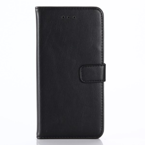 Retro Crazy Horse Wallet Leather Mobile Phone Protective Case for iPhone iPhone X/XS 5.8 inch - Black