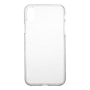 Soft Clear TPU Shell Case for iPhone XS / X 5.8 inch - Transparent