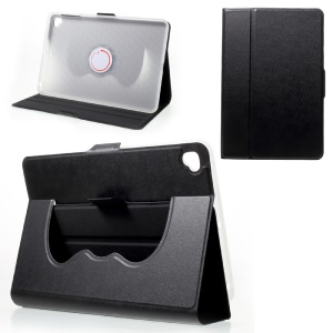Foldable 360 Degree Rotary Stand Leather Tablet Cover for iPad mini 5 - Black