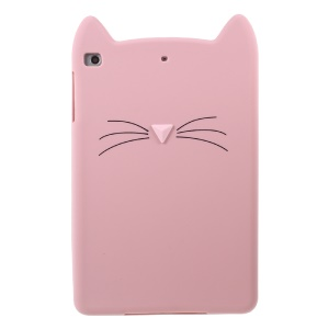 3D Moustache Cat Silicone Tablet Case Cover para iPad mini 4 - recortar