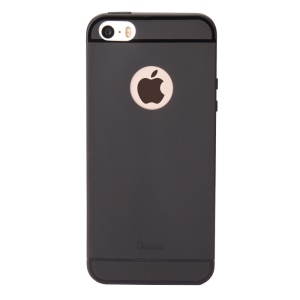 OUCASE Lovely Fruit Series Matte Finish Flexible Silicone Case Shell for iPhone 5 / 5s / SE - Black