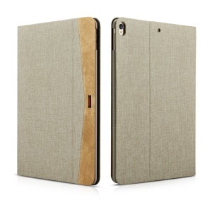 XOOMZ Cloth Texture Smart Leather Tablet Case for iPad Pro 10.5-inch (2017) - Khaki