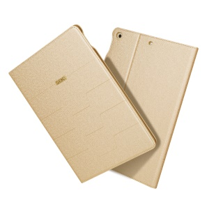 GEBEI Sand-like Texture Card Holder Smart Leather Shell Case for iPad 9.7 inch (2018)/9.7-inch (2017) - Gold
