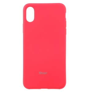 ROAR KOREA para iPhone X / 10 5.8 polegadas All Day Jelly Soft TPU Cover - vermelho