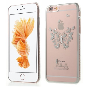 KAVARO Swarovski Diamond Butterfly Hard Case for iPhone 6s 6 - Silver