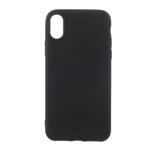 For iPhone XS / X / 10 5.8 inch Frosted Anti-fingerprint TPU Mobile Phone Case Accessory - Black