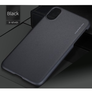 X-LEVEL Metallic Slim PC Hard Phone Case for iPhone X 5.8 inch - Black