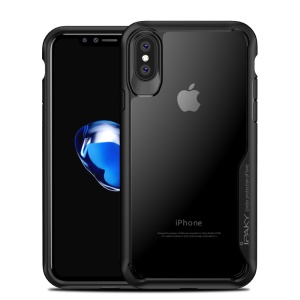 IPAKY Anti-drop PC + TPU Hybrid Phone Case for iPhone X 5.8 inch - Black