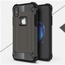 Armor Guard Plastic + TPU Protective Cover Case for iPhone X/XS 5.8inch - Bronze