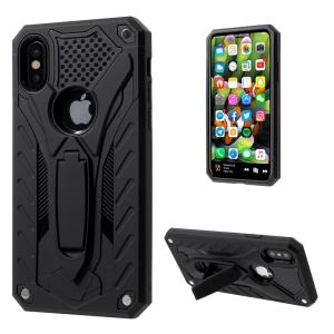 Cool Armor TPU + PC Hybrid Phone Case for iPhone X/XS 5.8 inch - Black