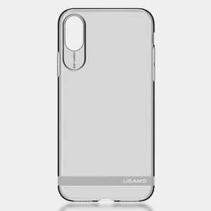 USAMS PRIMARY Série Soft TPU Case para iPhone X / 10 5.8 polegadas - prata
