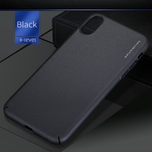 X-LEVEL Knight Series Light Matte Hard PC Protection Phone Case for iPhone X 5.8 inch - Black